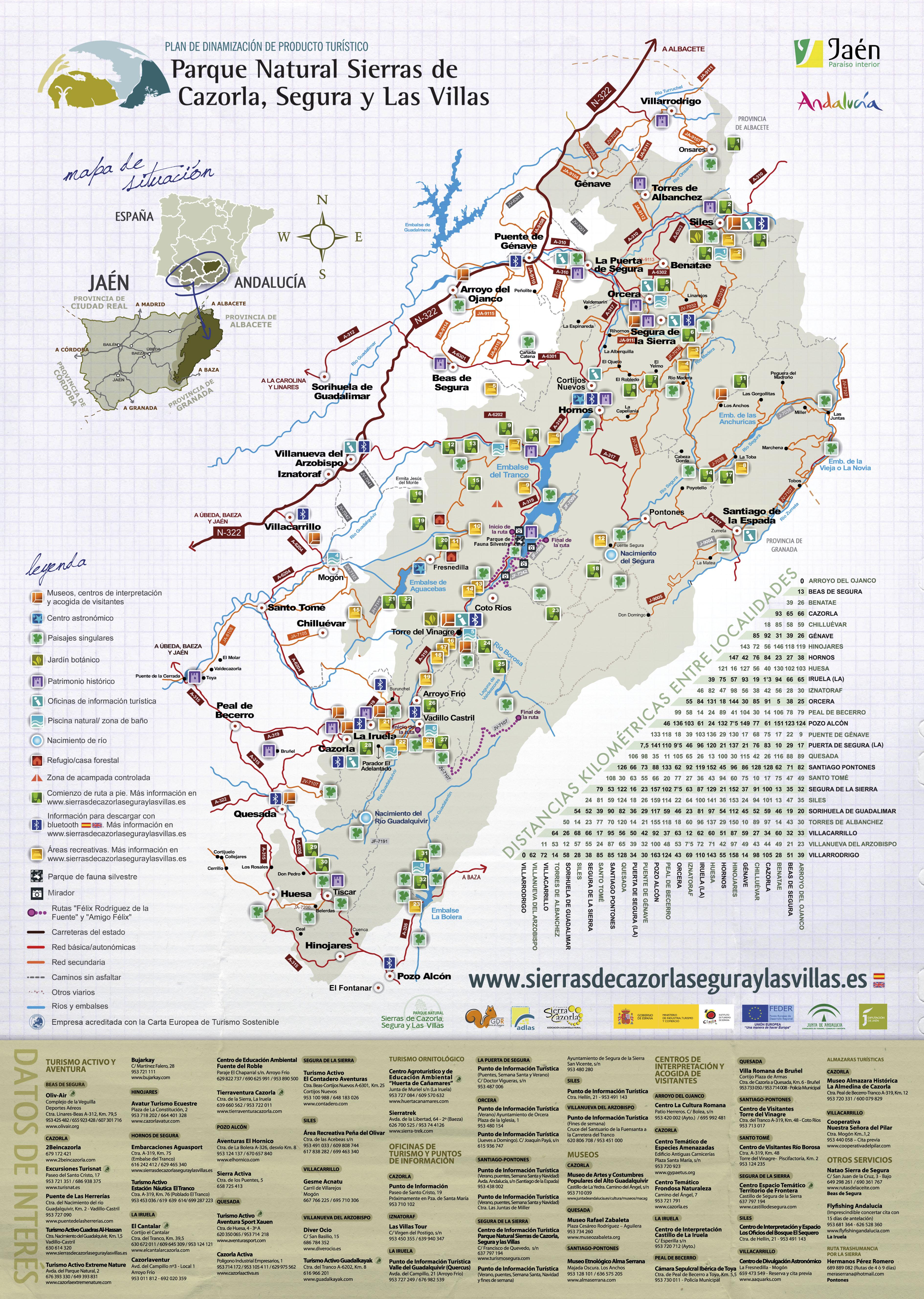 Mapa general del parque